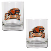Oregon State Beavers 2pc Rocks Glass Set