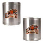 Oregon State Beavers 2pc Stainless Steel Can Holder Set