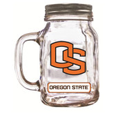 Oregon State  Beavers Mason Jar