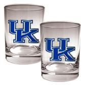 Kentucky Wildcats 2pc Rocks Glass Set