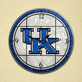 "Kentucky Wildcats 12"" Art Glass Clock"
