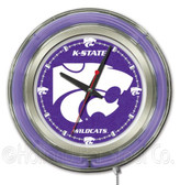 Kansas State Wildcats Neon Clock