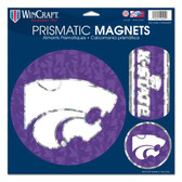 "Kansas State Wildcats Magnets - 11""x11 Prismatic Sheet"