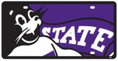 Kansas State Wildcats License Plate - Acrylic Mega Style