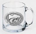 Kansas State Wildcats Clear Coffee Mug Set
