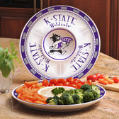 Kansas State Wildcats Ceramic Chip n Dip Server
