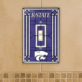 Kansas State Wildcats Art Glass Switch Cover