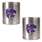 Kansas State Wildcats 2pc Stainless Steel Can Holder Set