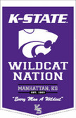 "Kansas State Wildcats 18""x27"" PowerHouse Wool Banner"