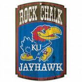 Kansas Jayhawks Wood Sign