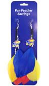 Kansas Jayhawks Team Color Feather Earrings