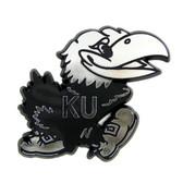 Kansas Jayhawks Silver Auto Emblem