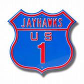Kansas Jayhawks Route Sign