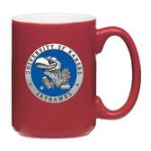 Kansas Jayhawks Red Coffee Mug Set