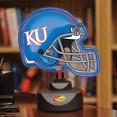 Kansas Jayhawks Neon Helmet Desk Lamp