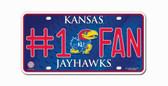 Kansas Jayhawks License Plate - #1 Fan