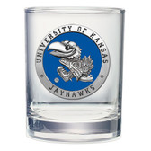 Kansas Jayhawks Double Old Fashioned Glass Set