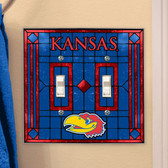 Kansas Jayhawks Double Lightswitch Cover