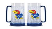 Kansas Jayhawks Crystal Freezer Mug