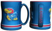 Kansas Jayhawks Coffee Mug - 15oz Sculpted