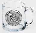 Kansas Jayhawks Clear Coffee Mug Set