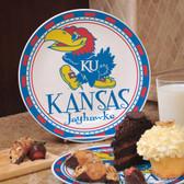 Kansas Jayhawks Ceramic Plate COL-KAN-586
