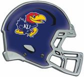 Kansas Jayhawks Auto Emblem - Helmet