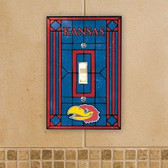 Kansas Jayhawks Art Glass Switch Cover