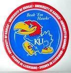 "Kansas Jayhawks 9"" Dinner Paper Plates"