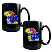 Kansas Jayhawks 2pc Coffee Mug Set