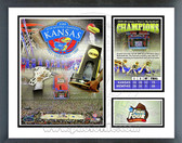 Kansas Jayhawks 2008 NCAA Champions Milestones & Memories Framed Photo