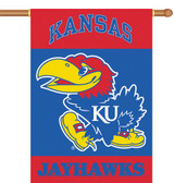 "Kansas Jayhawks 2-Sided 28"" x 40"" Banner w/ Pole Sleeve"