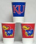 Kansas Jayhawks 16 oz Cups
