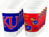 Kansas Jayhawks 16 oz. Cups