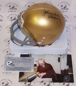 Johnny Lattner Signed Notre Dame Fighting Irish Mini Helmet