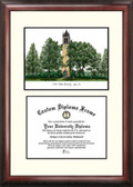 Iowa State University Scholar Framed Lithograph with Diploma