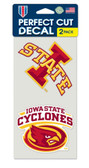 Iowa State Cyclones Set of 2 Die Cut Decals