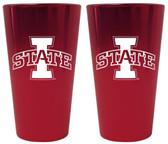 Iowa State Cyclones Lusterware Pint Glass - Set of 2