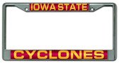 Iowa State Cyclones Laser Cut Chrome License Plate Frame