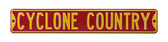 Iowa State Cyclones Cyclone Country Street Sign