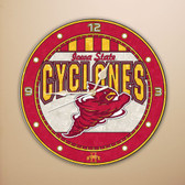 "Iowa State Cyclones 12"" Art Glass Clock"