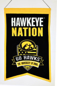 Iowa Hawkeyes Wool Nations Banner