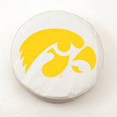 Iowa Hawkeyes White Tire Cover, Large