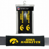 Iowa Hawkeyes Velour Seat Belt Pads