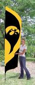 Iowa Hawkeyes Tall Team Flag
