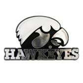 Iowa Hawkeyes Silver Auto Emblem