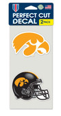 Iowa Hawkeyes Set of 2 Die Cut Decals