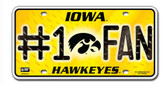 Iowa Hawkeyes License Plate - #1 Fan