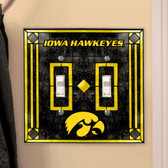 Iowa Hawkeyes Double Lightswitch Cover