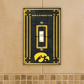 Iowa Hawkeyes Art Glass Switch Cover